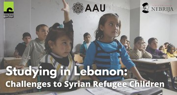 Studying in Lebanon: Challenges to Syrian Refugee Children